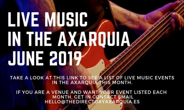 Live music in the Axarquia – June 2019